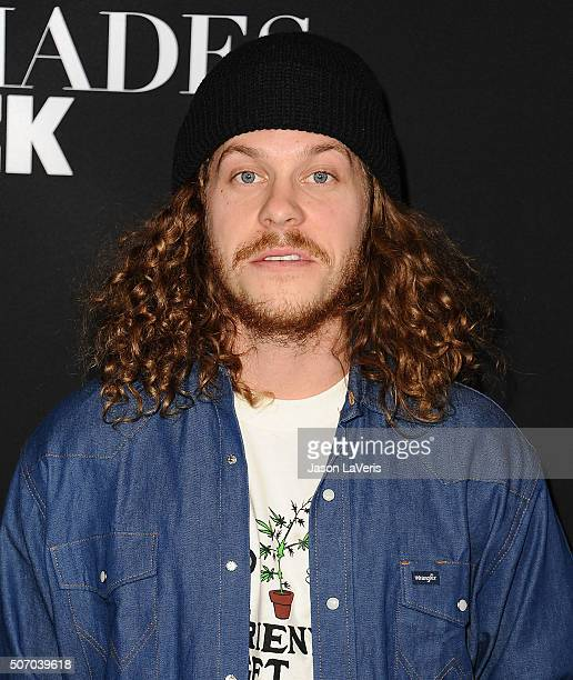 Actor Blake Anderson attends the premiere of 'Fifty Shades of Black' at Regal Cinemas LA Live on January 26 2016 in Los Angeles California