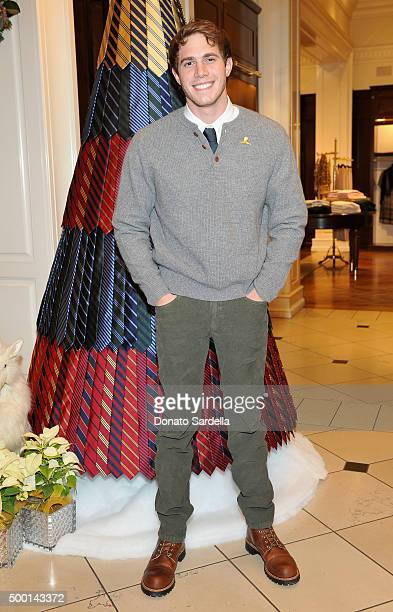 Actor Blake Jenner attends the Brooks Brothers holiday party with St Jude Children's Research Hospital at Brooks Brothers on Rodeo Drive on December...