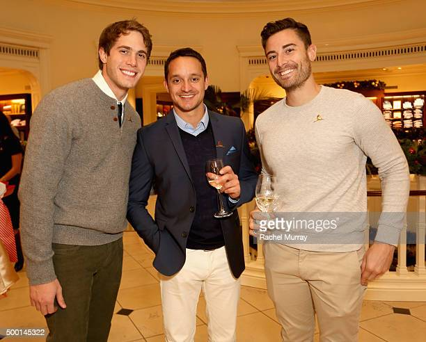 Actor Blake Jenner guest and talent manager Nick Todisco attend the Brooks Brothers holiday party with St Jude Children's Research Hospital at Brooks...