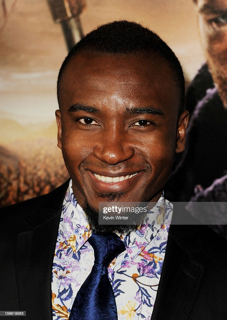 Actor Blessing Mokgohloa arrives at the premiere of Starz's 'Spartacus: War Of The Damned' at the Regal Cinemas L.A. Live on January 22, 2013 in Los Angeles, California.