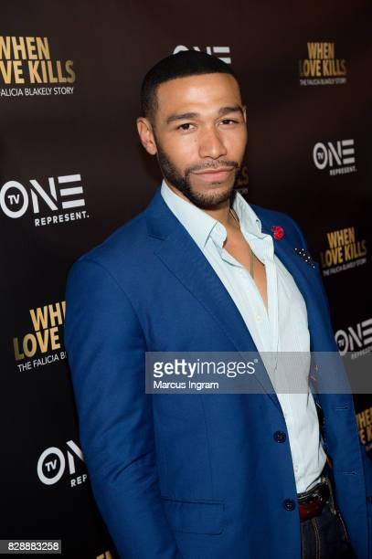 Actor Blue Kimble attends the 'When Love Kills The Falicia Blakely Story' movie screening at Regal Atlantic Station on August 9 2017 in Atlanta...