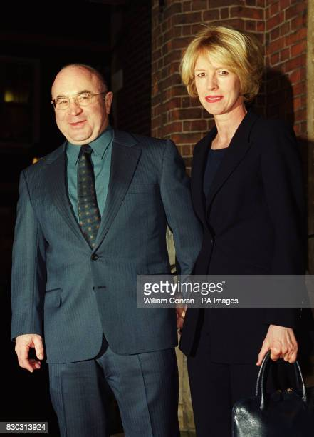 Actor Bob Hoskins and his wife Linda arrive at London's historic Middle Temple Hall where Kenneth Branagh received the John Gielgud Golden Quill...