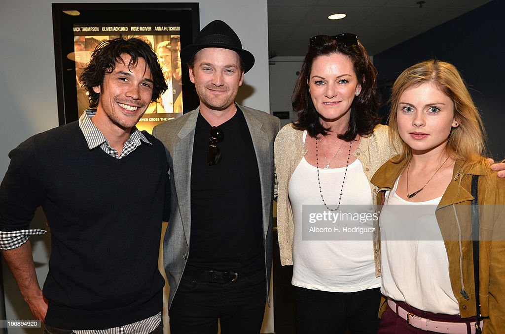 Actor Bob Morley, writer/director Richard Gray, Michelle Day and actress Rose McIver attend Australians In Film's screening of Revival Film Company's 'Blinder' at Los Angeles Film School on April 17, 2013 in Los Angeles, California.
