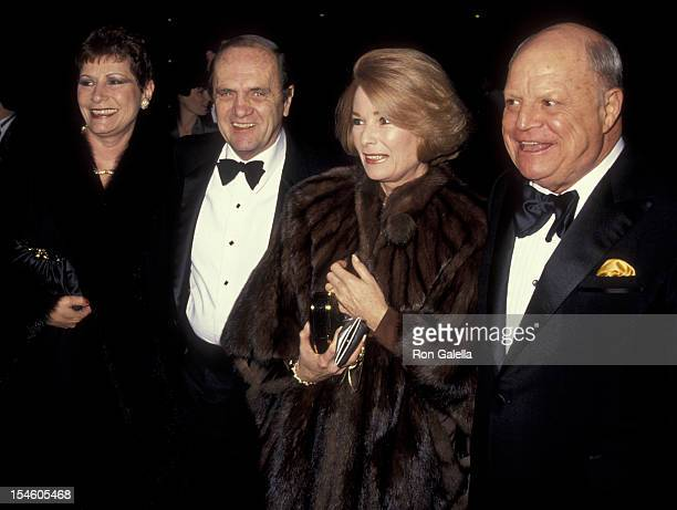Actor Bob Newhart and wife Ginny Newhart and comic Don Rickles and wife attend the premiere of 'The Russia House' on December 4 1990 at the Cineplex...
