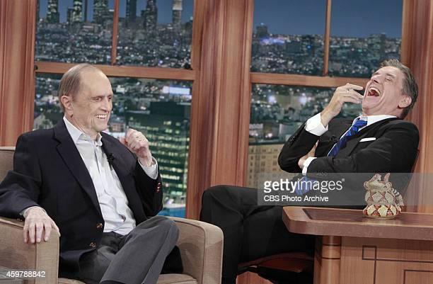 Actor Bob Newhart with Craig Ferguson on THE LATE LATE SHOW WITH CRAIG FERGUSON scheduled to air Thursday Nov 27 2014 on the CBS Television Network