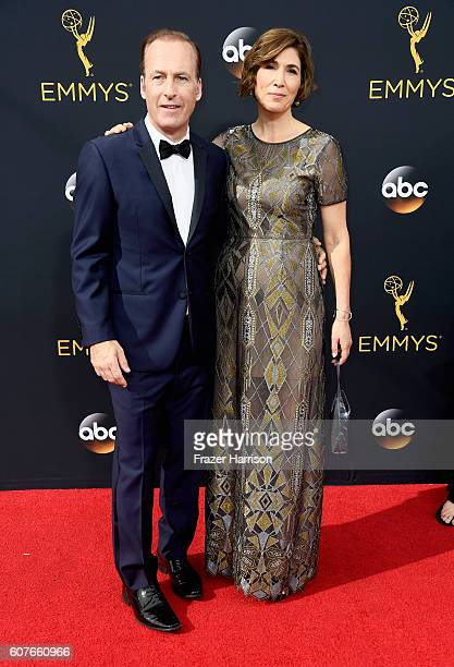 Actor Bob Odenkirk and Naomi Odenkirk attend the 68th Annual Primetime Emmy Awards at Microsoft Theater on September 18 2016 in Los Angeles California
