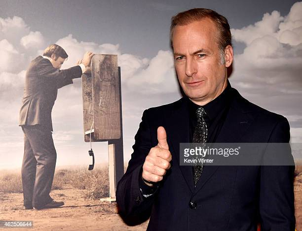 Actor Bob Odenkirk arrives at the series premiere of AMC's 'Better Call Saul' at the Regal Cinemas LA Live on January 29 2015 in Los Angeles...