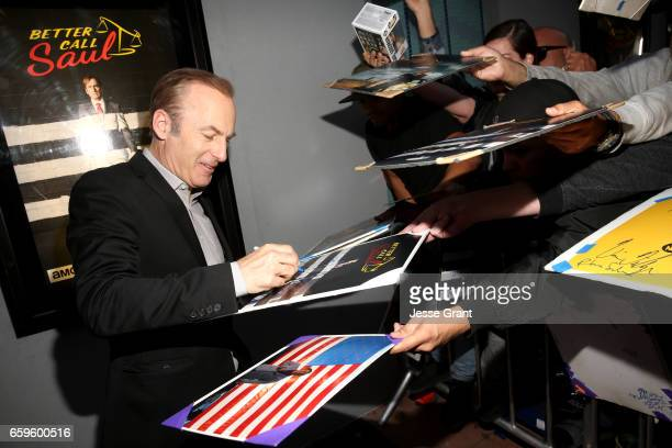 Actor Bob Odenkirk attends AMC's 'Better Call Saul' season 3 premiere at ArcLight Cinemas on March 28 2017 in Culver City California