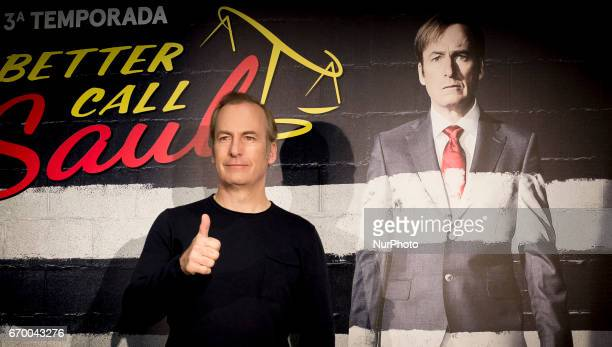 Actor Bob Odenkirk attends the 'Better call Saul' photocall at Telefonica flagship store on April 18 2017 in Madrid Spain