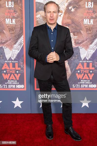 Actor Bob Odenkirk attends the premiere of HBO's 'All The Way' at Paramount Studios on May 10 2016 in Hollywood California