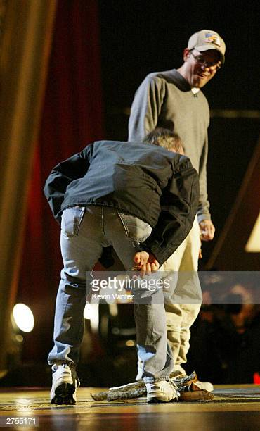 OUT*** Actor Bob Odenkirk farts while actor David Cross watches during Comedy Central's First Ever Awards Show 'The Commies' at Sony Pictures Studios...