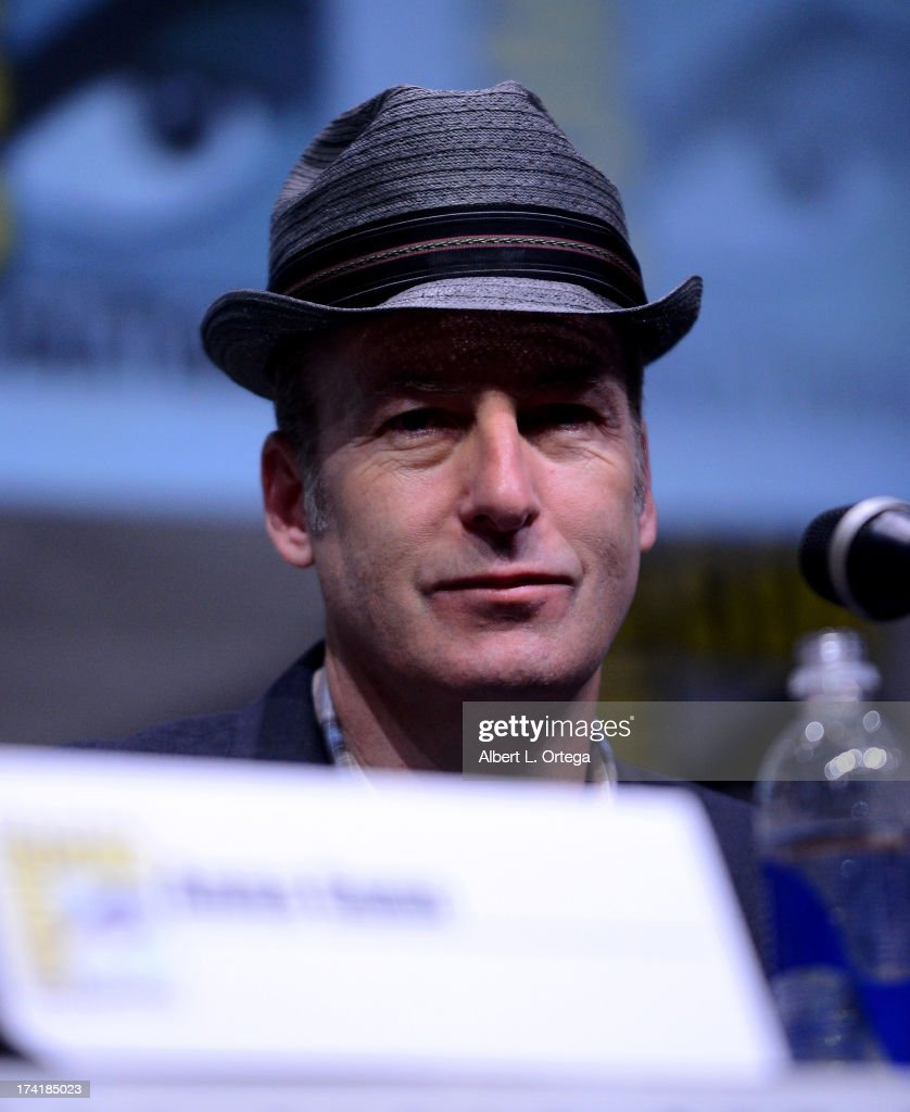 Actor Bob Odenkirk onstage at the 'Breaking Bad' panel during Comic-Con International 2013 at San Diego Convention Center on July 21, 2013 in San Diego, California.