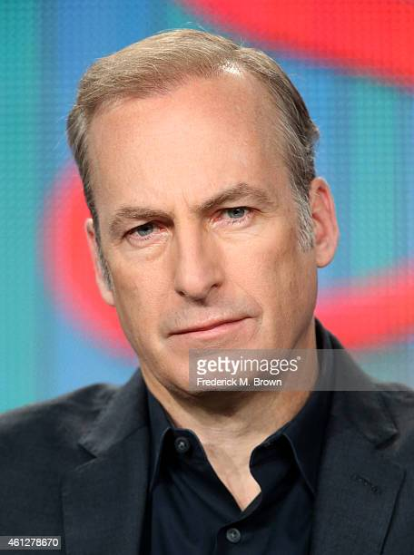 Actor Bob Odenkirk speaks onstage during the 'Better Call Saul ' panel at the AMC portion of the 2015 Winter Television Critics Association press...