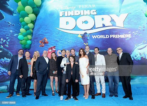 Actor Bob Peterson executive producer John Lasseter actors Kaitlin Olson John Ratzenberger screenwriter Victoria Strouse actors Albert Brooks Ellen...