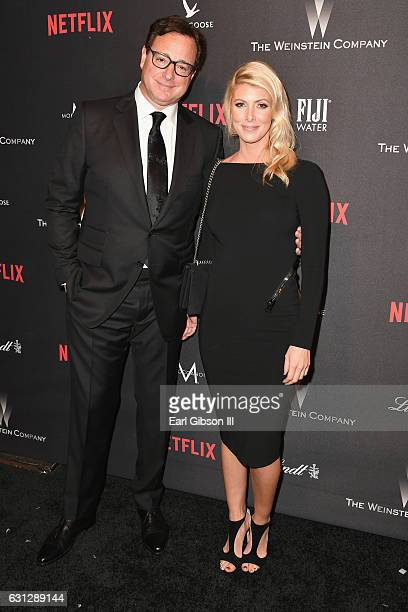 Actor Bob Saget and Kelly Rizo attend The Weinstein Company and Netflix Golden Globe Party presented with FIJI Water Grey Goose Vodka Lindt Chocolate...