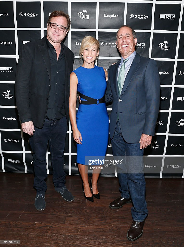 Actor Bob Saget, GOOD+ Foundation founder Jessica Seinfeld and host Jerry Seinfeld attend the 2nd annual Los Angeles Fatherhood Lunch to benefit GOOD+FOUNDATION at The Palm Restaurant on April 20, 2016 in Beverly Hills, California.