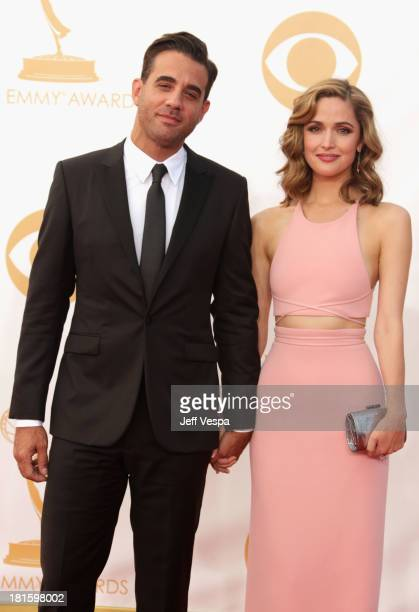 Actor Bobby Cannavale and actress Rose Byrne arrive at the 65th Annual Primetime Emmy Awards held at Nokia Theatre LA Live on September 22 2013 in...