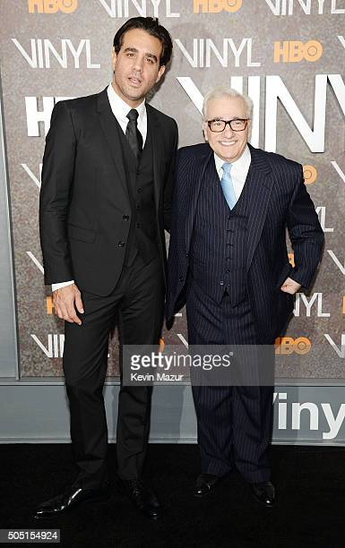 Actor Bobby Cannavale and director Martin Scorsese attends the New York premiere of 'Vinyl' at Ziegfeld Theatre on January 15 2016 in New York City
