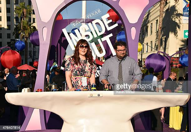 Actor Bobby Moynihan and a guest attend the Los Angeles premiere of DisneyPixar's 'Inside Out' at the El Capitan Theatre on June 8 2015 in Hollywood...
