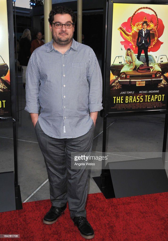 Actor <a gi-track='captionPersonalityLinkClicked' href=/galleries/search?phrase=Bobby+Moynihan&family=editorial&specificpeople=5633398 ng-click='$event.stopPropagation()'>Bobby Moynihan</a> arrives to the LA screening of Magnolia Pictures' 'The Brass Teapot' at ArcLight Hollywood on March 21, 2013 in Hollywood, California.