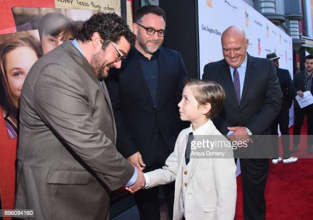 Actor Bobby Moynihan director Colin Trevorrow actor Jacob Tremblay and actor Dean Norris attend the opening night premiere of Focus Features' 'The...