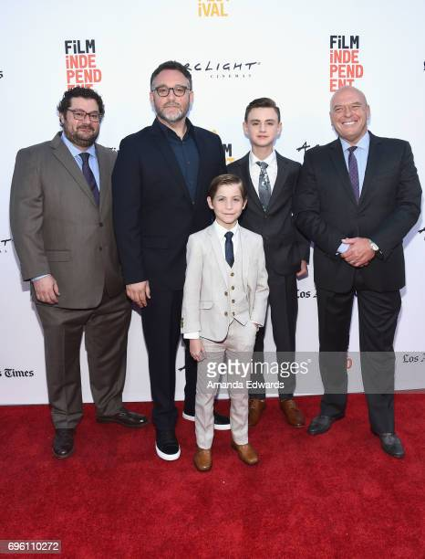 Actor Bobby Moynihan director Colin Trevorrow actor Jacob Tremblay actor Jaeden Lieberher and actor Dean Norris attend the opening night premiere of...