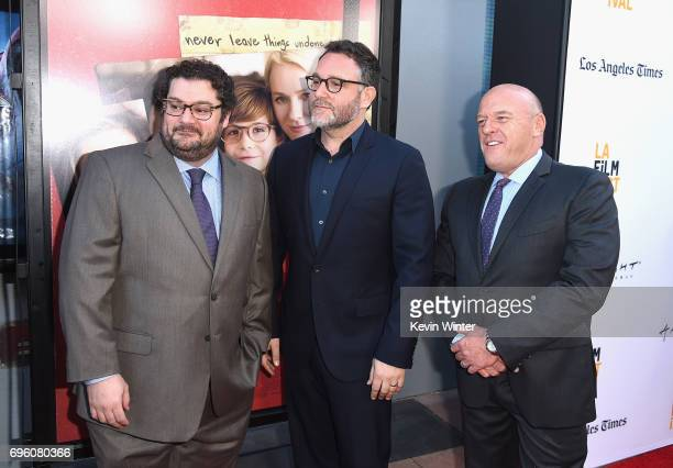 Actor Bobby Moynihan director Colin Trevorrow and actor Dean Norris attend the opening night premiere of Focus Features' 'The Book of Henry' during...
