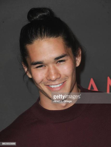 Actor Boo Boo Stewart arrives for the Premiere Of Miramax's 'American Satan' held at AMC Universal City Walk on October 12 2017 in Universal City...