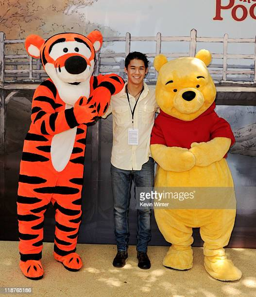 Actor Boo Boo Stewart poses at the premiere of Walt Disney Pictures' 'Winnie The Pooh' at the Walt Disney Studios on July 10 2011 in Burbank...
