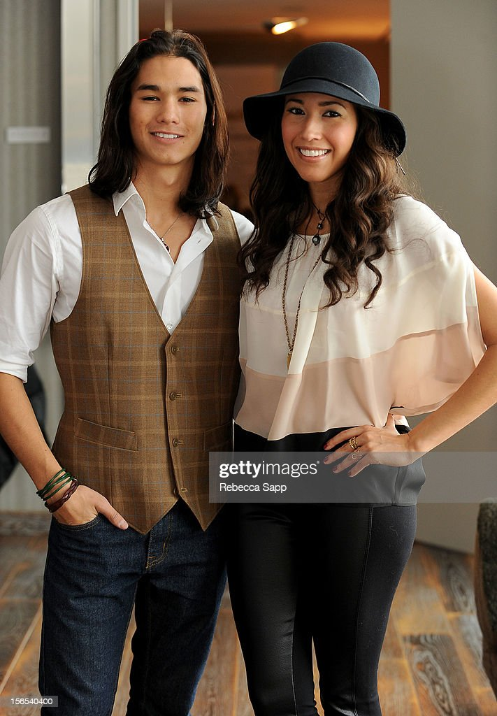 Actor Booboo Stewart and Megan Stewart at GBK Musical Lounge With Invited Nominees And Presenters Of The American Music Awards - Day 1 at Andaz on November 16, 2012 in West Hollywood, California.