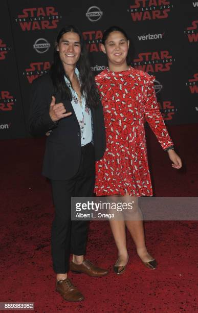 Actor BooBoo Stewart and sister Sage Stewart arrives for the Premiere Of Disney Pictures And Lucasfilm's 'Star Wars The Last Jedi' held at The Shrine...