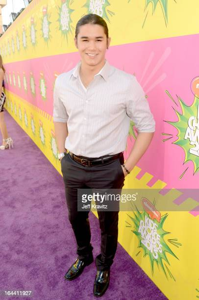 Actor Booboo Stewart arrives at Nickelodeon's 26th Annual Kids' Choice Awards at USC Galen Center on March 23 2013 in Los Angeles California