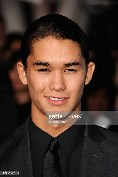 Actor Booboo Stewart arrives at 'The Twilight Saga Breaking Dawn Part 2' Los Angeles premiere at Nokia Theatre LA Live on November 12 2012 in Los...