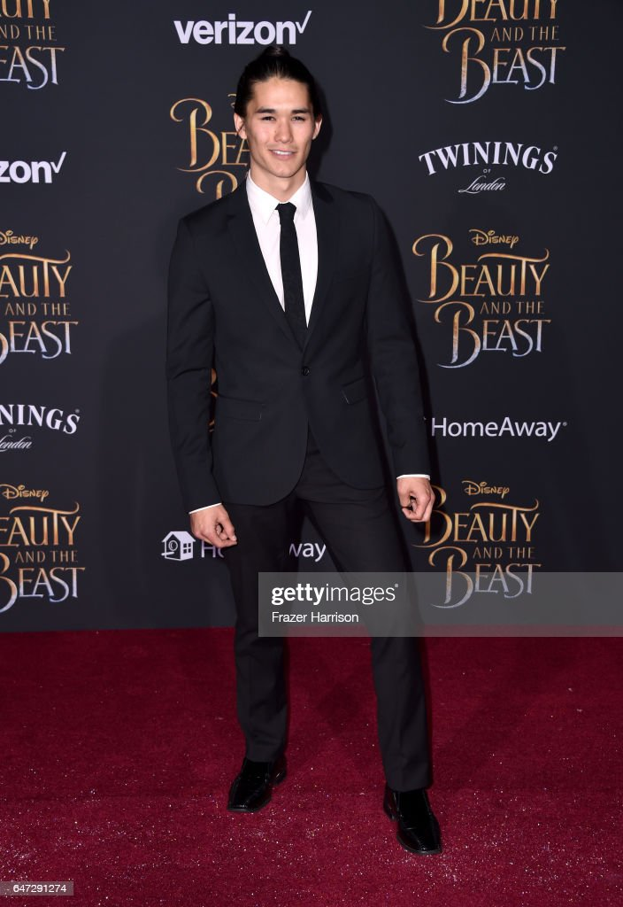 Actor Booboo Stewart attends Disney's 'Beauty and the Beast' premiere at El Capitan Theatre on March 2, 2017 in Los Angeles, California.