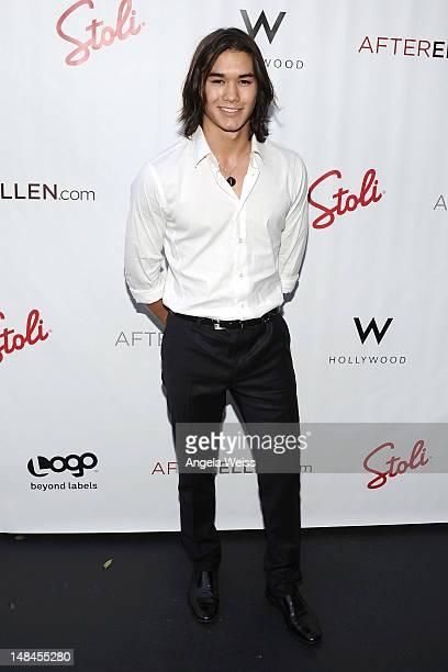 Actor Booboo Stewart attends Logo's AfterEllen AfterElton Inaugural 'Hot 100 Party' at Station Hollywood at W Hollywood Hotel on July 16 2012 in...