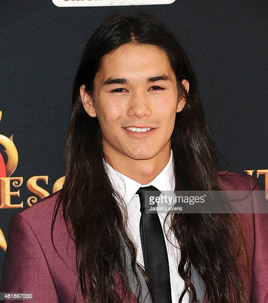 Actor Booboo Stewart attends the premiere of 'Descendants' at Walt Disney Studios Main Theater on July 24 2015 in Burbank California