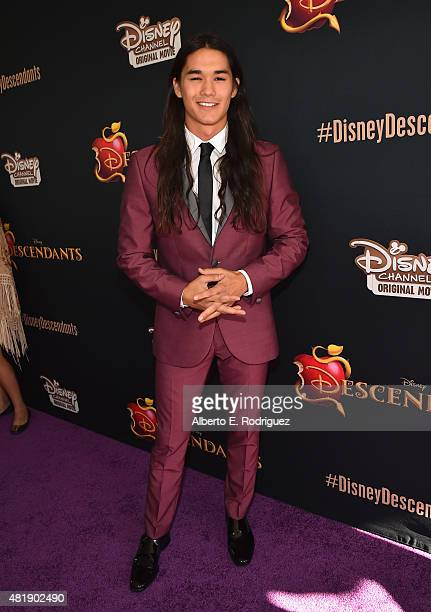 Actor Booboo Stewart attends the premiere of Disney Channel's 'Descendants' at Walt Disney Studios on July 24 2015 in Burbank California
