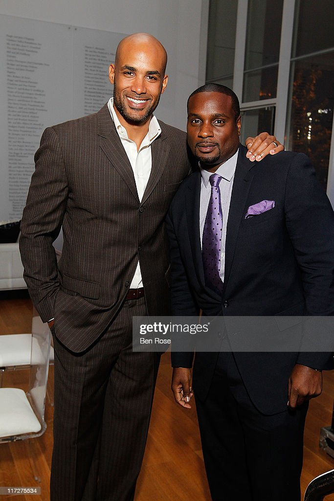 Actor <a gi-track='captionPersonalityLinkClicked' href=/galleries/search?phrase=Boris+Kodjoe&family=editorial&specificpeople=240156 ng-click='$event.stopPropagation()'>Boris Kodjoe</a> and Devyne Stephens attend a private reception for the opening of the exhibition 'Radcliffe Bailey : Memory as Medicine' at High Museum of Art on June 24, 2011 in Atlanta, Georgia.