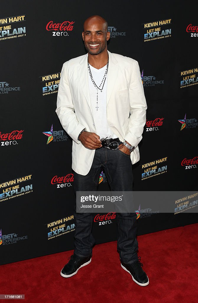Actor Boris Kodjoe attends Movie Premiere 'Let Me Explain' with Kevin Hart during the 2013 BET Experience at Regal Cinemas LA Live on June 27 2013 in...