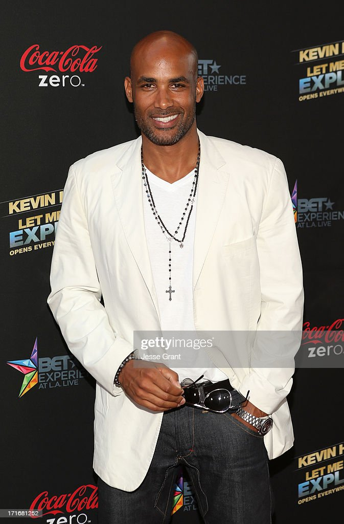 Actor <a gi-track='captionPersonalityLinkClicked' href=/galleries/search?phrase=Boris+Kodjoe&family=editorial&specificpeople=240156 ng-click='$event.stopPropagation()'>Boris Kodjoe</a> attends Movie Premiere 'Let Me Explain' with Kevin Hart during the 2013 BET Experience at Regal Cinemas L.A. Live on June 27, 2013 in Los Angeles, California.