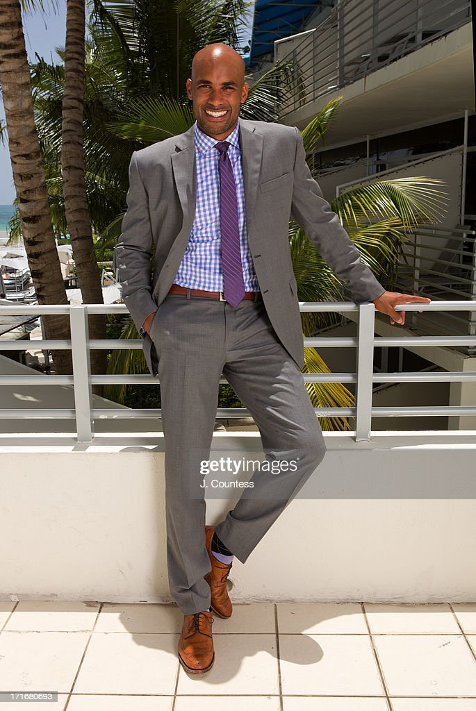 Actor Boris Kodjoe poses during the 2013 American Black Film Festival on June 20, 2013 in Miami, Florida.