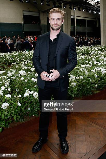Actor Boyd Holbrook attends the Dior Homme Menswear Spring/Summer 2016 show as part of Paris Fashion Week on June 27 2015 in Paris France
