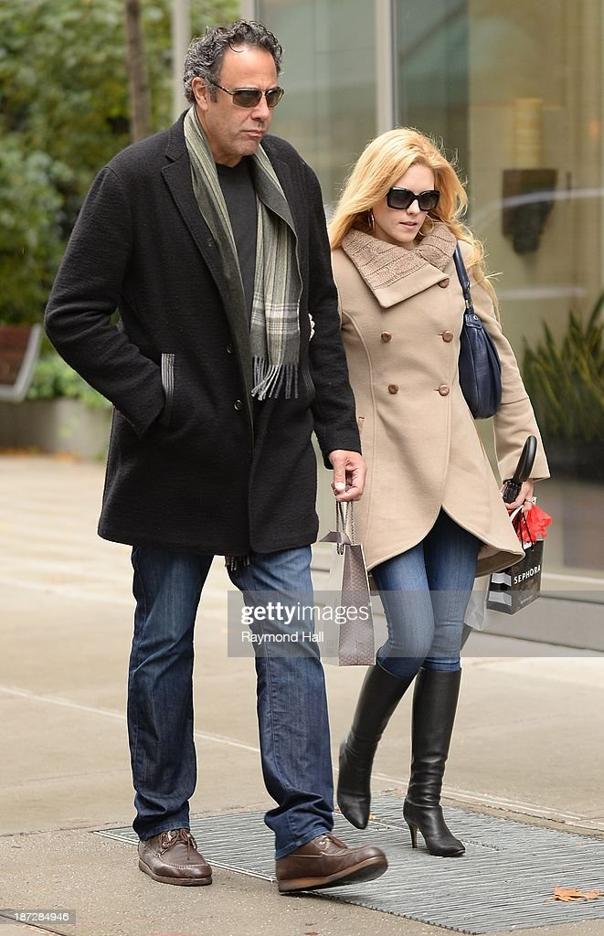 Actor <a gi-track='captionPersonalityLinkClicked' href=/galleries/search?phrase=Brad+Garrett&family=editorial&specificpeople=208169 ng-click='$event.stopPropagation()'>Brad Garrett</a> and Isabella Quella are seen walking in Soho on November 7, 2013 in New York City.