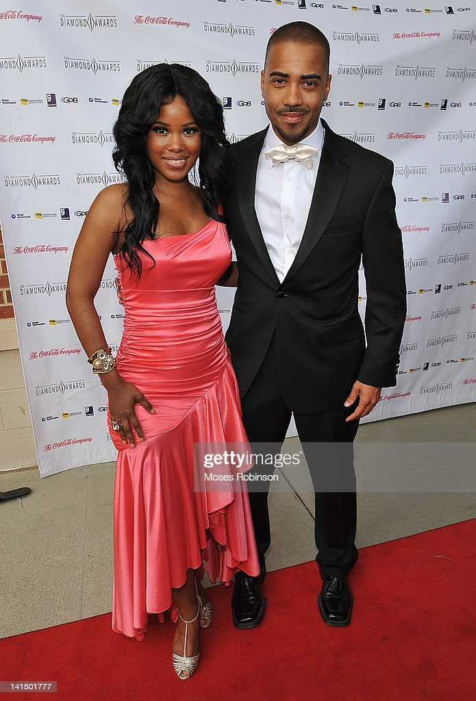 Actor Brad James (right) and guest attend the Not Alone Foundation Second Biennial Diamond Awards at Morehouse College Ray Charles Performing Arts Center on March 17, 2012 in Atlanta, Georgia.