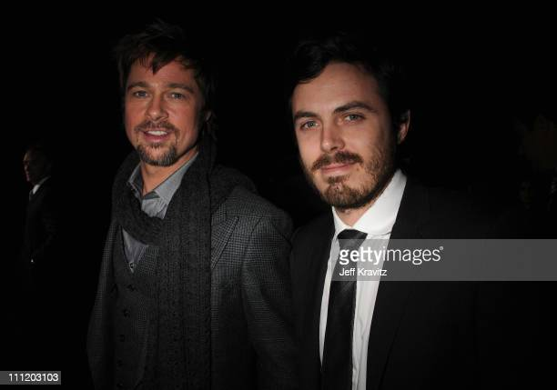 Actor Brad Pitt and Actor Casey Affleck at the 13th ANNUAL CRITICS' CHOICE AWARDS at the Santa Monica Civic Auditorium on January 7 2008 in Santa...