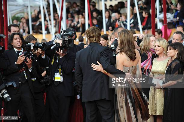 Actor Brad Pitt and Actress Angelina Jolie arrives to the 14th Annual Screen Actors Guild Awards at the Shrine Auditorium on January 27 2008 in Los...