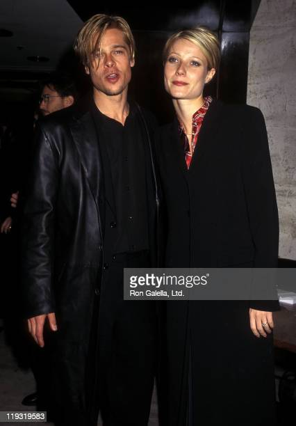 Actor Brad Pitt and actress Gwyneth Paltrow attend 'The Devil's Own' New York City Premiere on March 13 1997 at City Cinemas Cinema 1 in New York City