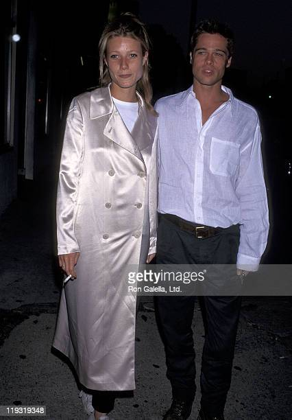 Actor Brad Pitt and actress Gwyneth Paltrow attend the 'Living in Oblivion' West Los Angeles Premiere on July 12 1995 at the Royal Theatre in West...