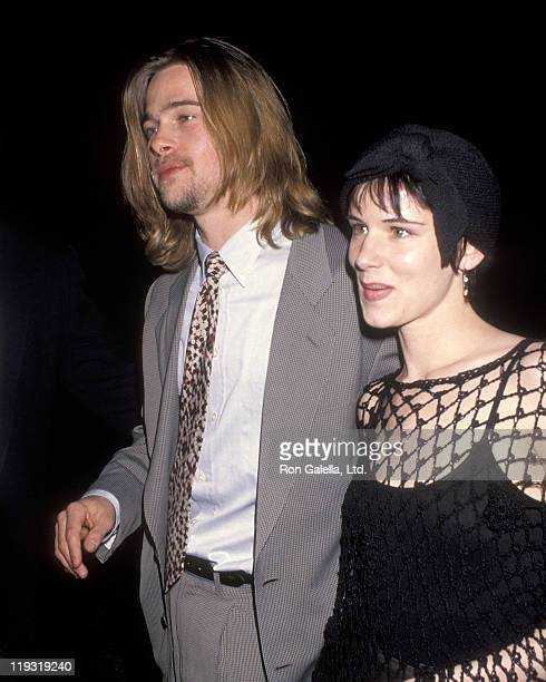 Actor Brad Pitt and actress Juliette Lewis attend the 1993 NATO/ShoWest Convention on March 8 1993 at Bally's Hotel and Casino in Las Vegas Nevada