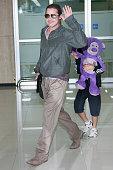 Actor Brad Pitt and Pax Thien JoliePitt are seen upon arrival at Gimpo Airport on June 11 2013 in Seoul South Korea Brad Pitt is visiting South Korea...